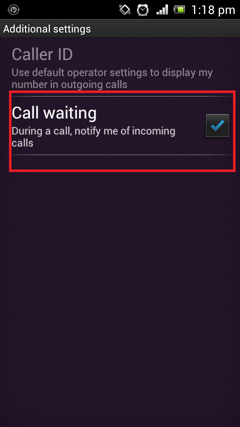 CallWaiting in Android